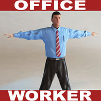 office worker c4d