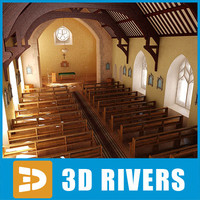 Protestant church interior by 3DRivers
