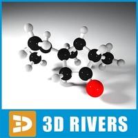 absinthe molecule structure 3d 3ds