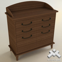 3d wooden waiter cabinet