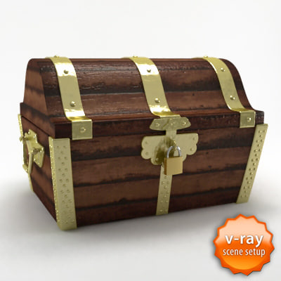 3d treasure chest model - Treasure chest... by barsim