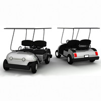 3ds max golf cart