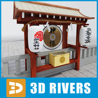 3d japanese temple 06 model