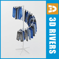 3d model rack kid display retail store