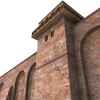roman walls 3d model