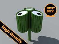 3d recycle bin model