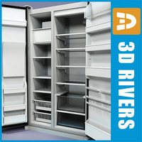 Refrigerator 02 by 3DRivers