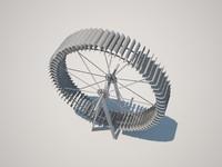 3d metal wheel model