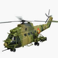 iar 330 puma helicopter 3d model