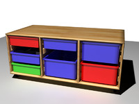 3ds max plastic storage drawers childrens