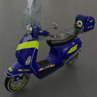 VESPA LX50 scooter - Textured - LoRes
