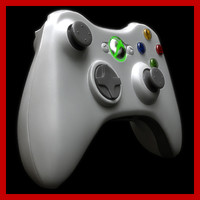 microsoft xbox 360 controller 3d model