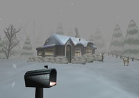 free blend model winter scene