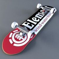 professional skateboard element 3d max