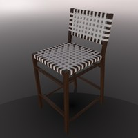 bar chair 3d c4d