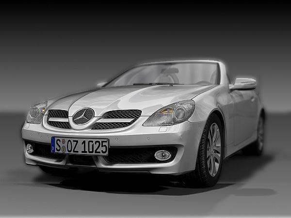 3d model 2008 mercedes benz