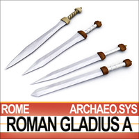 Roman Gladius Sword Set A