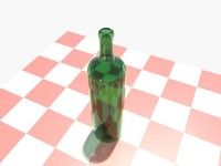 3d model bordeaux wine bottle glassware