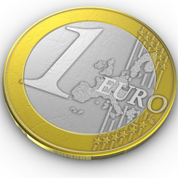 3d coin 1 euro model - Coin.Europe.1 Euro.Greece.LP... by 3DLocker