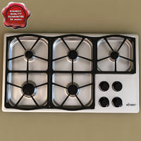 3d model gas cooktop dacor