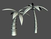 Cartoon Palm Trees