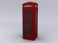 ENGLISH PHONE BOOTH (Hi-Poly)