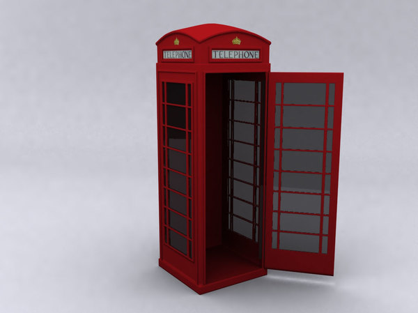 3ds max english phone booth hi-poly - ENGLISH PHONE BOOTH (Hi-Poly)... by DonViper
