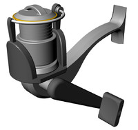 Simple Spinning Reel.3dm
