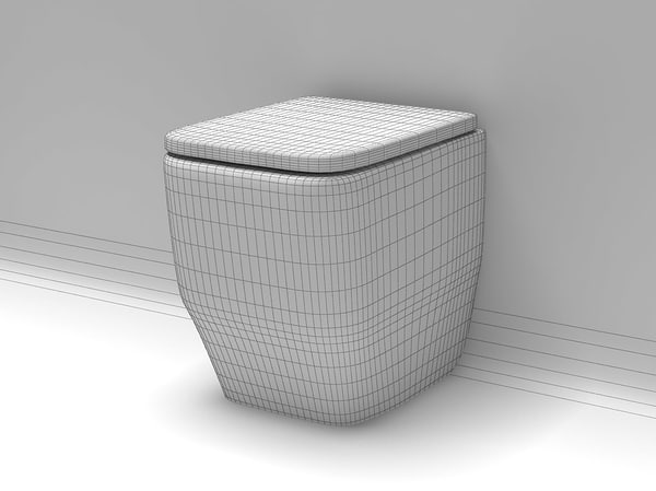 3d toilet model - Toilet 04... by Digital Furniture