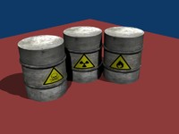 free 3ds model barrel radioactive toxic