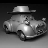 old car character 3d model
