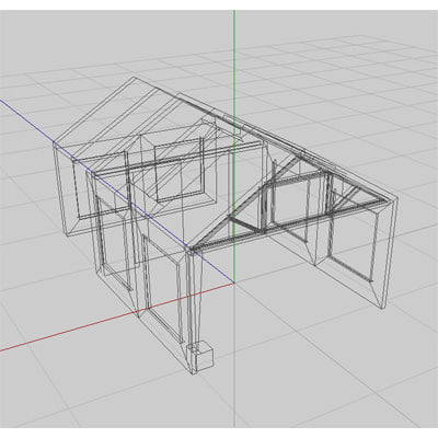 3d huts set hangers - Hut Set 01... by SerKevin