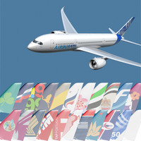 a350-800 airlines 3d model