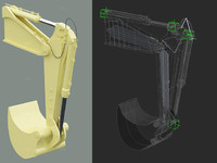 robotic arm rigged 3d max