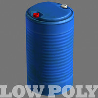 3d model plastic barrel modeled