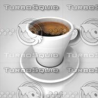 3d coffee cup espresso model
