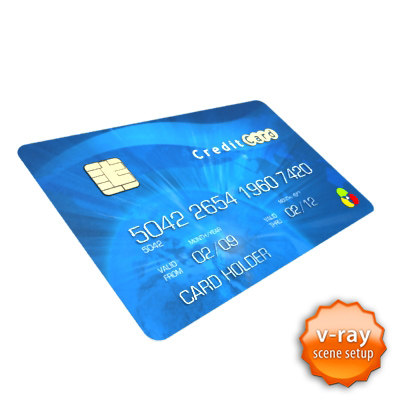 3d credit card - Credit card... by barsim