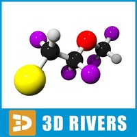 3dsmax enflurane molecule structure