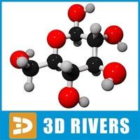 galactose molecule structure 3d model