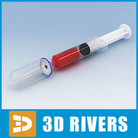Glass bulb and syringe by 3DRivers