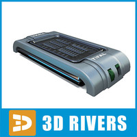 3d model electronic grill 02