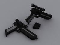 free pistol custom 3d model