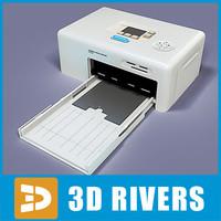 photo printer 3d model