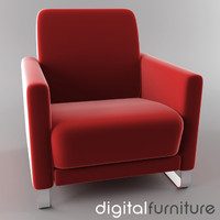 3d 3ds armchair digital