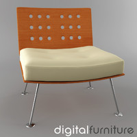 3ds armchair digital