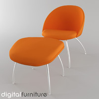 3d model armchair digital