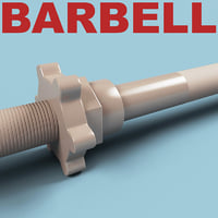 3d barbell modelled model
