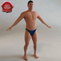 3ds max beach man