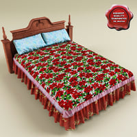 bed coverlet v3 3d 3ds