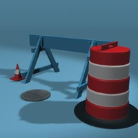 street construction equipment 3d ma